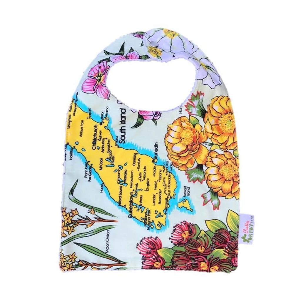 NZ Map South Island Baby Bib
