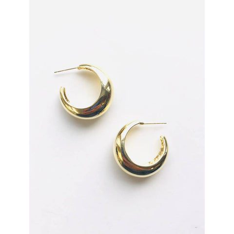 Fat Moon Hoop Earrings