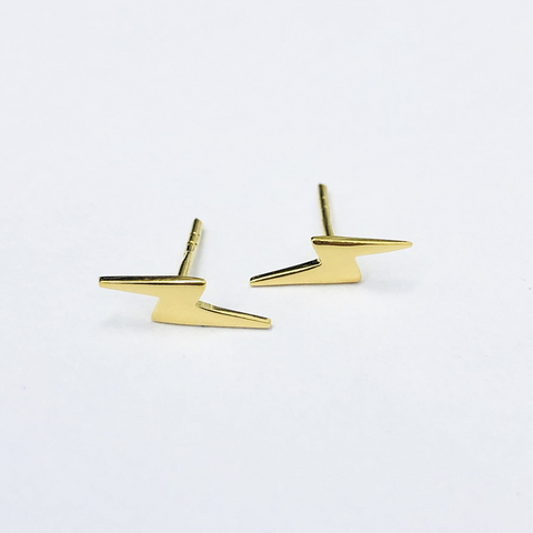 Gold Plated Lightening Bolt Stud ss
