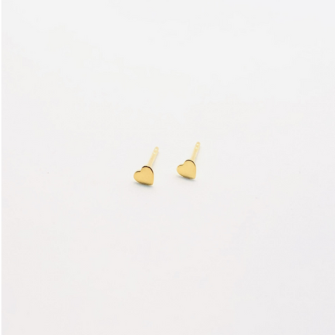 Gold Plated Mini Heart Stud ss
