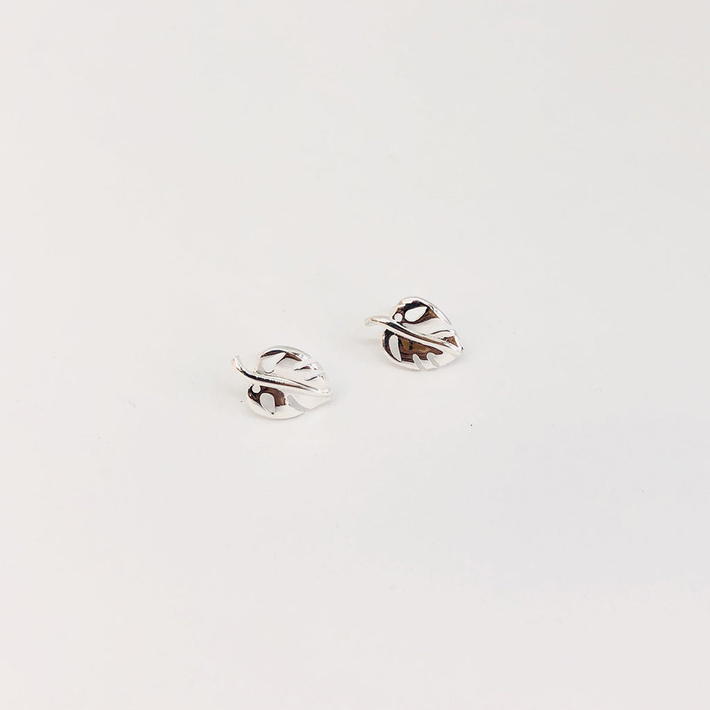 Monstera Leaf Studs ss