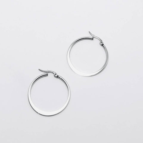 Small Thin Silver Hoop