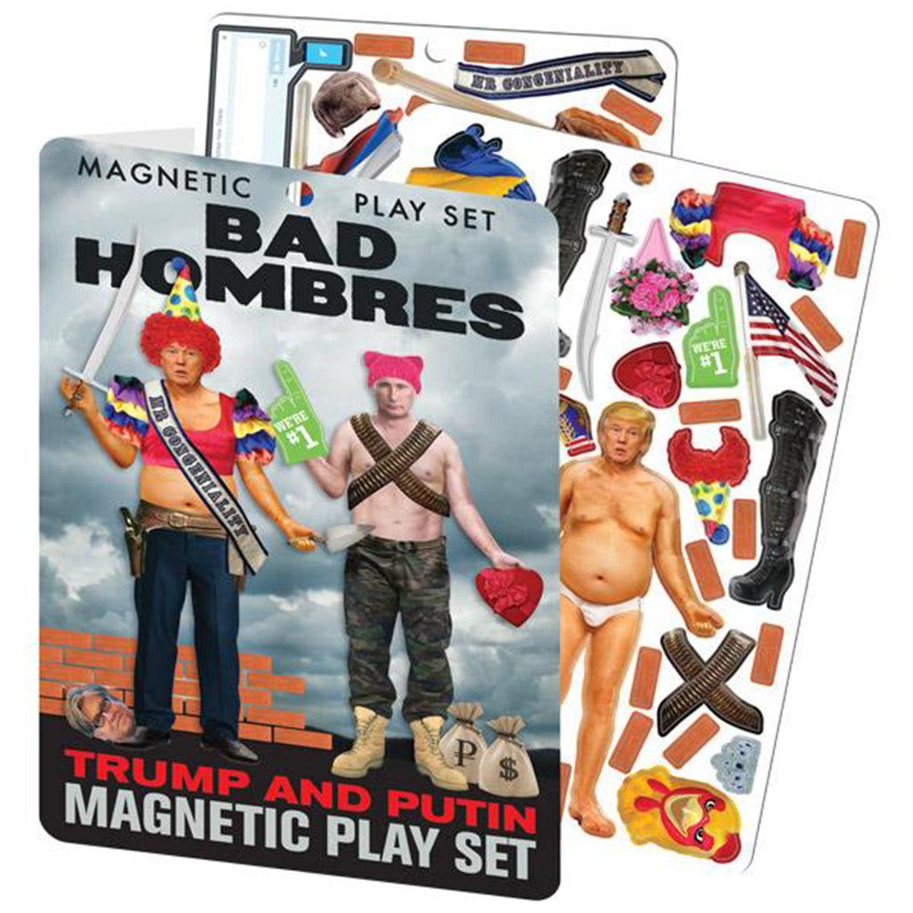 Trump and Putin Bad Hombres Magnetic Play Set