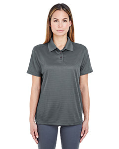 UltraClub Ladies Cool & Dry Elite Mini-Check Jacquard Polo