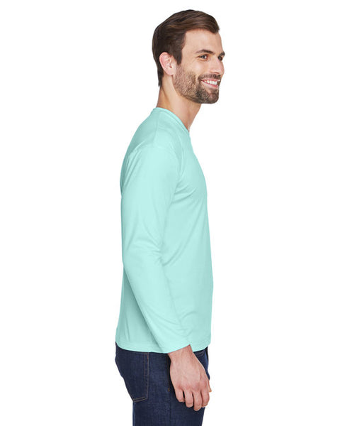 UltraClub Adult Cool & Dry Sport Long-Sleeve Performance Interlock T-Shirt