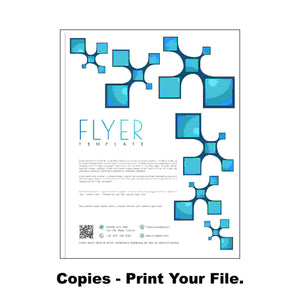 "Copies - 8.5 x 11"" - Color - One Sided 24# White Bond"