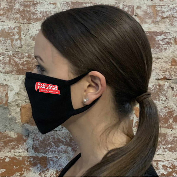 Flat Masks with Ear Loops - Printed with Logo