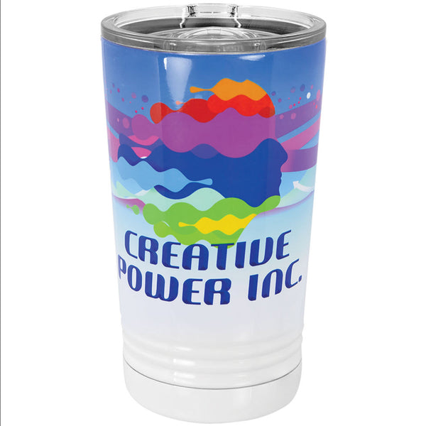 White Stainless Steel Insulated Tumblers