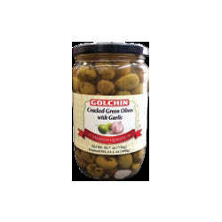 GOLCHIN GREEN OLIVES WITH GARLIC