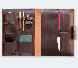 Leather MacBook Organizer - Brown