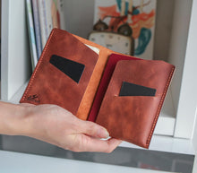 Load image into Gallery viewer, Leather Passport Sleeve - Teos