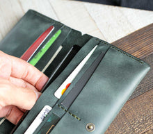 Load image into Gallery viewer, Leather Double Long Phone Wallet