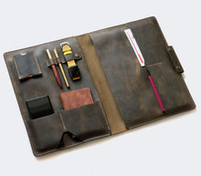 Load image into Gallery viewer, Leather MacBook Organizer -Green