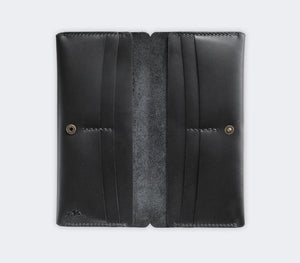 Leather Double Long Phone Wallet