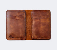 Load image into Gallery viewer, Leather Bifold Vertical Wallet - Laodicea