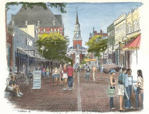 Church Street - Burlington, Vermont in Color.