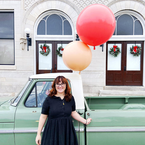 Bloomstall Owner Michelle Hughes with her flower truck, Fern.