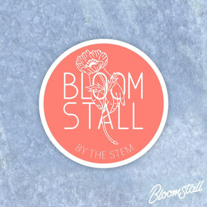 Bloomstall Logo Sticker