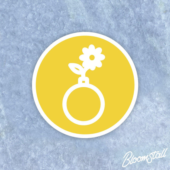 Bloomstall Flower Bomb Sticker
