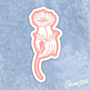 Bloomstall Anemone with Hand Sticker
