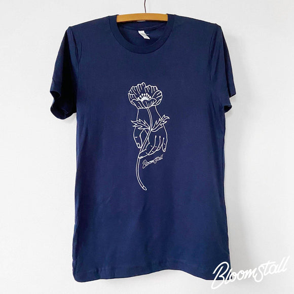 Bloomstall Signature T-Shirt in Navy - Bloomstall Flowers - Columbia, Tennessee