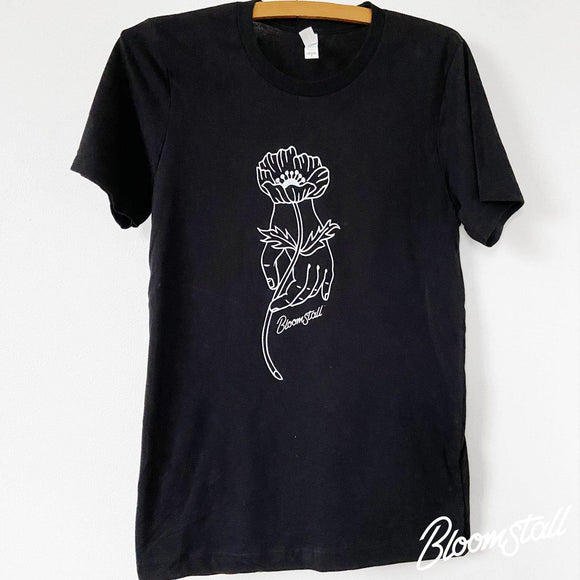 Bloomstall Signature T-Shirt in Black - Bloomstall Flowers - Columbia, Tennessee
