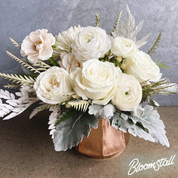Sparkling White Arrangement - Bloomstall Flowers - Columbia, Tennessee