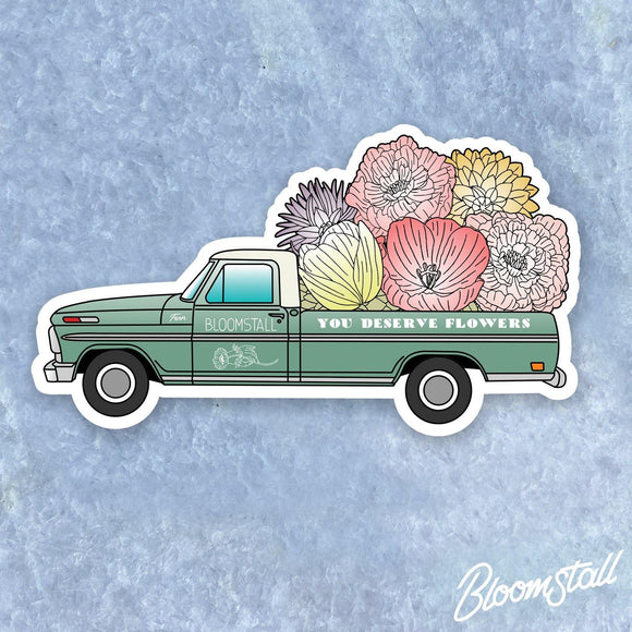 Bloomstall Fern the Flower Truck Sticker - You Deserve Flowers™ - Bloomstall Flowers - Columbia, Tennessee