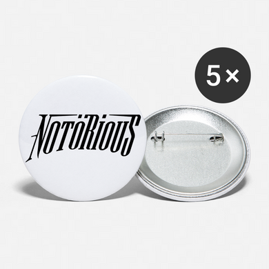 NOTÖRIOUS Buttons large 2.2'' (5-pack) - white