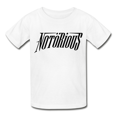 NOTÖRIOUS Black Logo KIDS - white