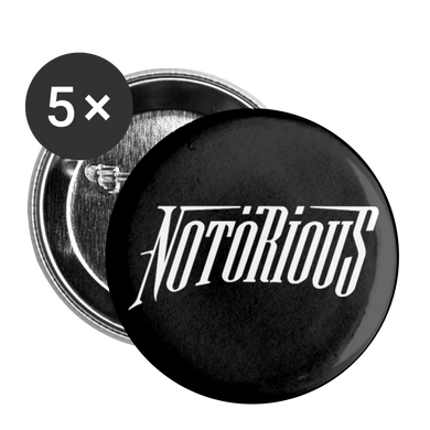 NOTÖRIOUS Buttons Black large 2.2'' (5-pack) - white