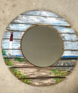 MIRROR driftwood painting