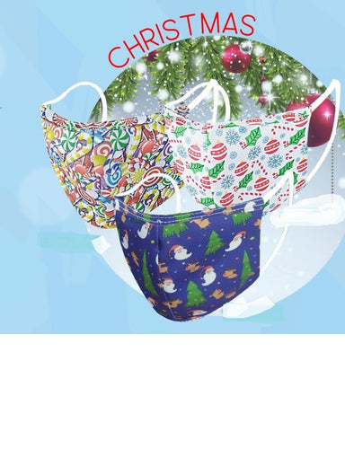 Christmas Holiday Reusable Mask-2 PACK