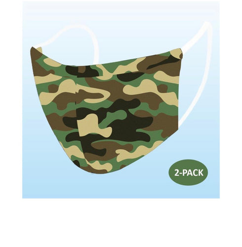 Camo Reusable Mask-2 PACK