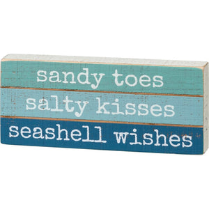 Sandy Toes Salty Kisses Seashell Wishes