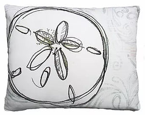 Sand Dollar Gray Pillow