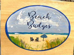 Beach Badge Box with Chairs