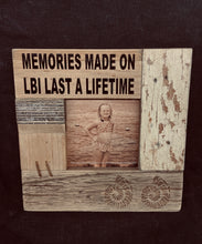 Load image into Gallery viewer, Rustic Shells Frame 'memories made on LBI last a lifetime'
