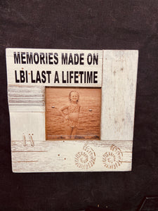 Rustic Shells Frame 'memories made on LBI last a lifetime'