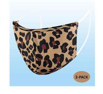 Leopard Print Reusable Mask-2 PACK