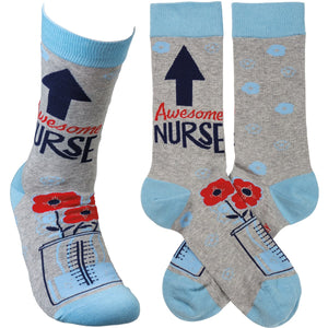 Socks Awesome Nurse