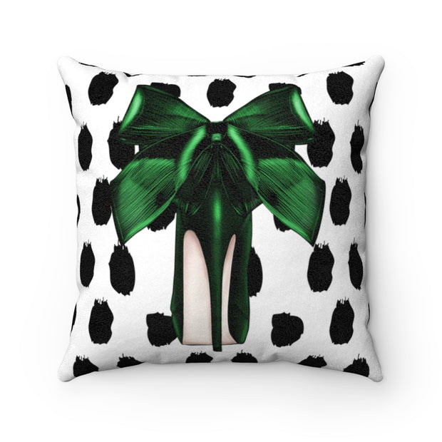 'Step into my Shoes' - Emerald Faux Suede Pillow