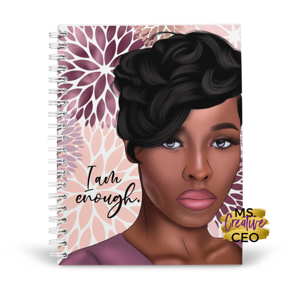 'I Am Enough' Spiral Bound Lined Notebook