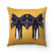 'High Standards' - Aubergine + Gold Faux Suede Pillow
