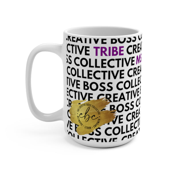 CREATIVE BOSS COLLECTIVE OFFICIAL MUG - WHITE + BLACK