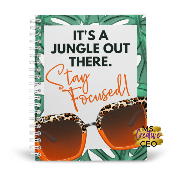 'It's a Jungle Out There' Melanin Spiral Bound Lined Notebook