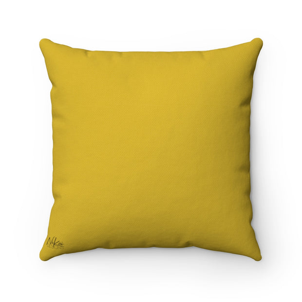 'You Can't Kill My Vibe' - Mustard Spun Polyester Pillow