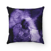 Watercolor - Purple Spun Polyester Pillow