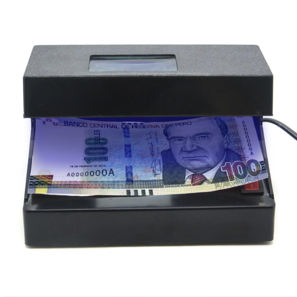 Detector De Billetes Falsos Con Lámpara UV y Lupa HX-102