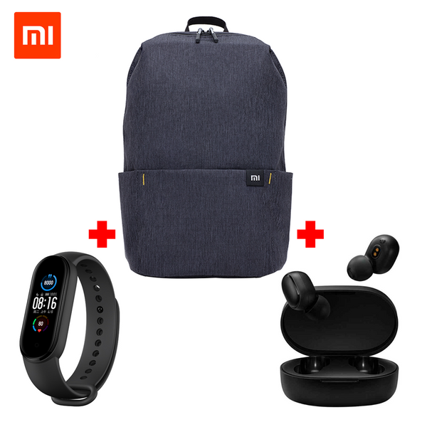 Mi Band 5 + Mi casual DayPack +  Mi True Wireless Earbuds Basic 2